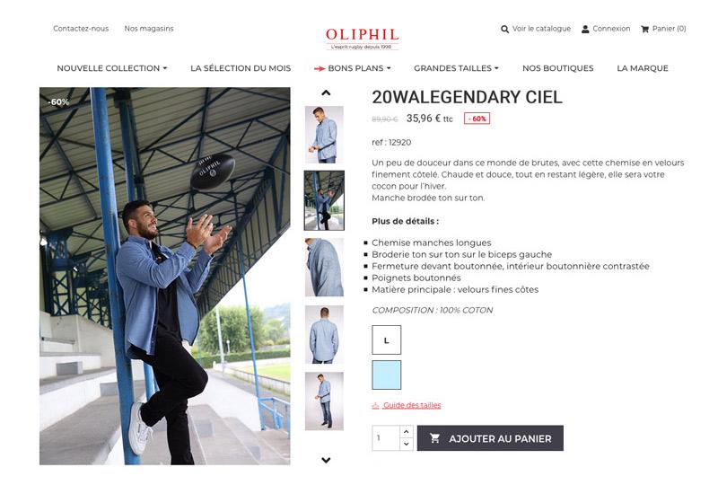 fiche produit Oliphil
