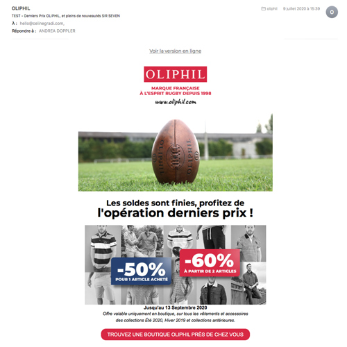 newsletter pour Oliphil
