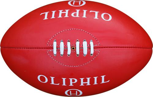 ballon de rugby rouge Oliphil